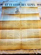 ANCIEN JOURNAL LE CLAIRON DES ALPES 1895 REDACTEUR  FREDYRIC BREYNAT GRENOBLE N° 91 - 1850 - 1899