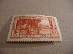 TIMBRE   CONGO     TAXE   N  27      COTE  2,50  EUROS   NEUF  TRACE  CHARNIERE - Congo Français (1891-1960)