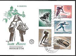 ! -  Saint-Marin - FDC 1964 - Serietta - Timbres Sports D'hiver Jeux Olympiques - Cortina - 1956 - FDC
