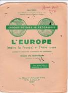 C E/ Protège-cahiers Croquis Devoir /L'Europe - Protège-cahiers