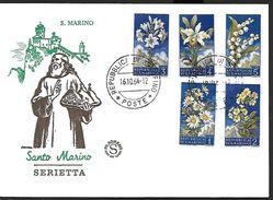! -  Saint-Marin - FDC 1964 - Serietta - Fleurs - FDC