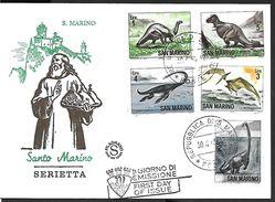 ! -  Saint-Marin - FDC 1965 - Serietta - Dinosaures - FDC