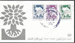 ! -  Arabie Saoudite - FDC - 1960 - 3 TIMBRES - Arabie Saoudite
