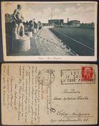 ROMA - FORO MUSSOLINI (STADIO DEI MARMI) - Annullo Targhetta Lotteria Di Tripoli Vg 1937 - Stades & Structures Sportives