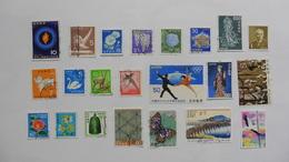 Japon : 22 Timbres Oblitérés - Japon