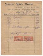 Invoice * Portugal * Lisboa * 1916 * Francisco Ignacio Clemente - Portugal