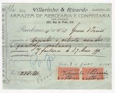 Receipt * Portugal * Lisboa * 1915 * Villarinho & Ricardo - Portugal