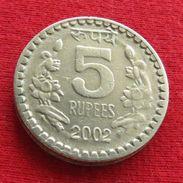 India 5 Rupees 2002 ( C ) KM# 154.1 Inde Indie - Inde