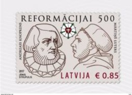 Latvia.2017.Martin Luther.The 500th Anniversary Of The Reformation.1 V. ** . - Letland