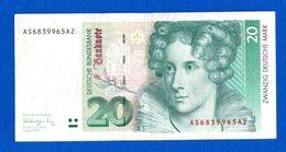 20  Mark - [ 7] 1949-… : RFA - Rep. Fed. De Alemania