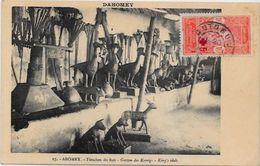CPA Afrique Noire Fétiche Dahomey Circulé Totem - Dahomey