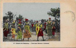 CPA Afrique Noire Fétiche Dahomey Circulé - Dahomey