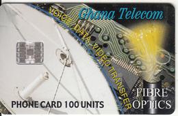 GHANA - Fibre Optics, Satellite Dish, Tirage 40000, 02/01, Used - Ghana