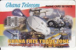 GHANA - Earth Station, Free Trade Zone, 02/01, Used - Ghana