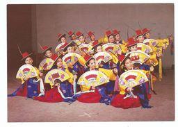 Cpm  Corée KOREAN FORK FAN DANCING Danseuses Costume Traditionnel éventail - Non Voyagée - Corée Du Sud
