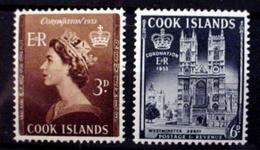 COOK ISLANDS  # 145-146.   1953 Coronation Of Queen Elizabeth II.  MNH (**) - Cook Islands