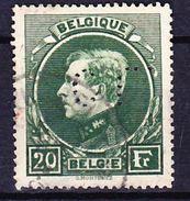 BELGIQUE 1929-32 YT N° 290 Obl. PERFORE - 1929-1941 Big Montenez
