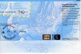 COUPON-REPONSE INTERNATIONAL (MONTE-CARLO 9.10.2014 - FR) - CN 01 - Validité 31.12.2017 - Entiers Postaux