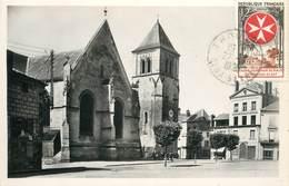 """CPSM FRANCE 79 """"Thouars, La Place De L'Eglise"""" - Thouars"""