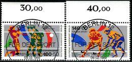 Berlin - Mi 836 / 837 Oberrand - Zentrisch OO Gestempelt (B) - 100+50-140+60Pf            Sporthilfe 1989 - Berlin (West)