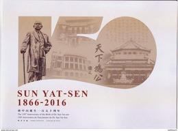 China  2016-32 The 150th Anniversary Of The Birth Of Dr. SUN Yat-sen  Special Sheet Folder - 1949 - ... Volksrepublik