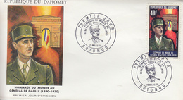 Enveloppe  FDC  1er  Jour   DAHOMEY    GENERAL  DE   GAULLE      1971 - De Gaulle (Général)