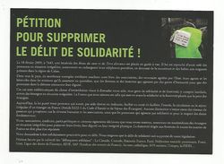 EMMAUS FRANCE - PETITION POUR SUPPRIMER LE DELIT DE SOLIDARITE 2009 - Grèves