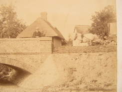 Photographie Photo Cpa Eure Et Loir Nonvilliers Grandhoux Le Pont  Mazoyer Ingenieur 21,5 Cm X 13,3 Cm - Photos