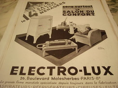 ANCIENNE PUBLICITE 4 SALON DES ARTS MENAGE AVEC ELECTRO-LUX 1937 - Other