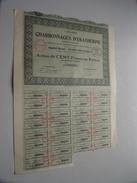 Charbonnages D'EKATHERINE ( Paris ) Action De Cent Francs Au Porteur N° 048,884 ( For Details See Photo ) !! - Mines