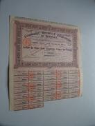 Cie Gén. D'Eclairage De BORDEAUX Action De 2 Cent Cinquante Francs Au Porteur N° 28,264 ( For Details See Photo ) !! - Hist. Wertpapiere - Nonvaleurs