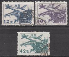 KOREA   SCOTT NO. C9-11     USED      YEAR  1953 - Korea, South