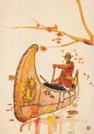 CPM Illustrée Hugo Pratt - Jesuite JOE (rangers En Canoë) - Illustrators & Photographers