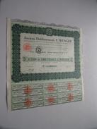 Anciens Ets F. WENGER ( Lyon ) Action De 1.000 Francs N° 02572 ( For Details See Photo ) !! - Actions & Titres