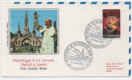 """Frankreich 1983 Sonderumschlag """"Papst Johannes Paul II In Lourdes"""" 15. August Mit MiNr. 2328 - France"""