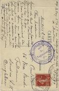 """1917- C P A -alpes De Savoie Affr. 10 C  """" HOPITAL COMPLEMENTAIRE N°59 * MOUTIERS * - Marcophilie (Lettres)"""