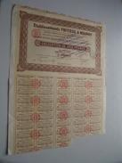 Ets. FRITISSE & NOURRY ( Clermont-Ferrand ) Obligation De 500 Francs N° 000,395 ( For Details See Photo ) !! - Actions & Titres