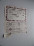 Ets. GASTON CHAMPAGNE ( Paris ) Action De Cinq Francs N° 000,252 ( For Details See Photo ) !! - Actions & Titres