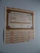 Ets. J. DIDIER ( Lyon ) Action De 500 Francs Au Porteur - N° 002773 - 1923 ( For Details See Photo ) !! - Actions & Titres