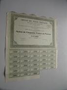 Omnium Des Huiles Végétales ( Eyguières ) Action De 50 Francs Au Porteur - N° 3284 - 1924 ( For Details See Photo ) !! - Actions & Titres