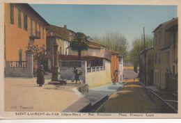 CPA - SAINT LAURENT DU VAR - RUE DESJOBERT - PLACE FRANCOIS LAJET -  THENISCH - Saint-Laurent-du-Var