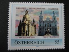 Personalisierte Marke Postfrisch, Salzburg Partnerstadt Dresden - Österreich