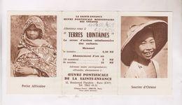 PETIT CALENDRIER EN 3 VOLETS,OEUVRE PONTIFICALE DE LA SAINTE ENFANCE En 1962! - Calendriers