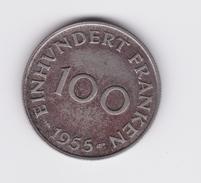100 Franken 1955 Sarre  TTB à SUP - Sarre