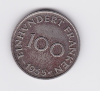 100 Franken 1955 Sarre  TTB à SUP - Saarland