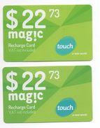 2 Recharge Card Magic Touch 2014 Lebanon , Liban Telecarte Libano - Lebanon