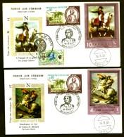 LOT 2 FDC NAPOLÉON 1er- YEMEN- TIMBRES NON DENTELÉS- CAD SANA'A  DU 16-9-69 + TIMBRES FRANCE- CAD AJACCIO- - Napoleone