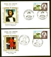 LOT 4 FDC BONAPARTE- FRANCE- TIMBRES DENTELÉS- CAD AJACCIO  ILLUSTRÉ DU 16-8-69- 2 SCANS - Napoleon