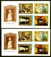 LOT 2 FDC NAPOLÉON 1er- ILE DE LA GRENADE- 8 TIMBRES DENTELÉS - CAD GRENADA 1971- - Napoleone