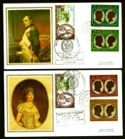 LOT 2 FDC NAPOLÉON 1er- STE LUCIA- 4 TIMBRES DENTELÉS- CAD STE LUCIA  DU 22-9-69 + TIMBRES FRANCE + MONACO - Napoleone